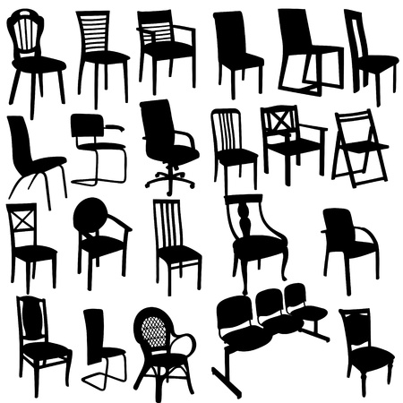 antique chair: Set of Armchairs Silhouettes