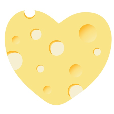 Cheese heart vector illustration Stock Vector - 12303122