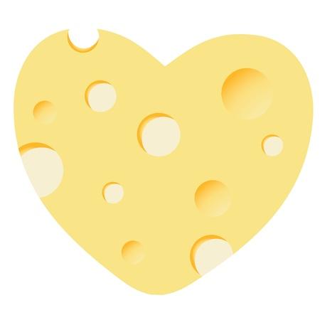 Cheese heart vector illustration Stock Vector - 12303122