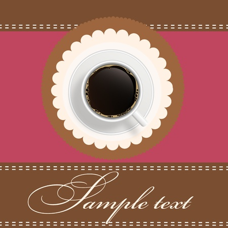coffee invitation background Stock Vector - 12303178