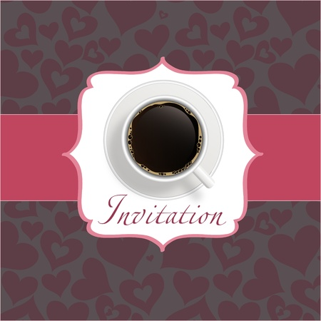 coffee invitation background Stock Vector - 12303179