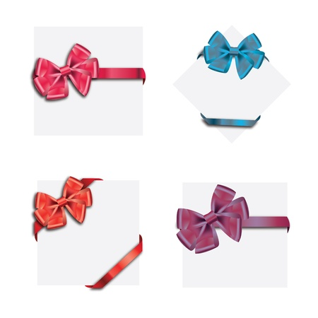 Gift cards with ribbon. Vector background Stock Vector - 12303238