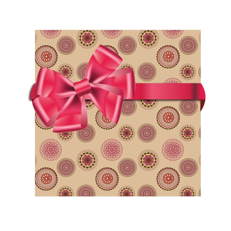 Gift cards with ribbon. Vector background Stock Vector - 12303262