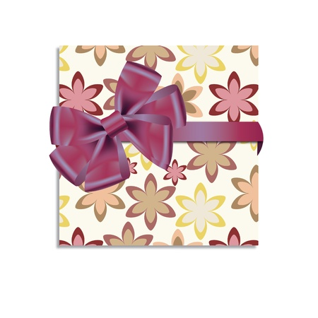 Gift cards with ribbon. Vector background Stock Vector - 12303258