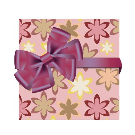 Gift cards with ribbon. Vector background Stock Vector - 12303260