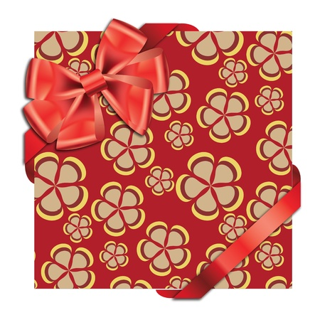 Gift cards with ribbon. Vector background Vector