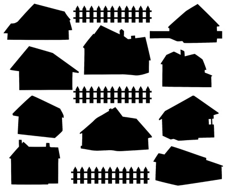 silhouette house Stock Vector - 12303243