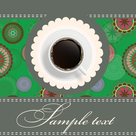 coffee invitation background Stock Vector - 12303415