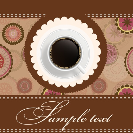 coffe: coffee invitation background