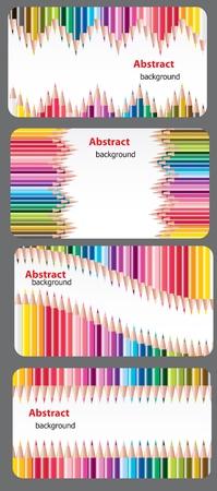 beautiful teacher: Business cards, tags, labels, invitations, etc. templates set