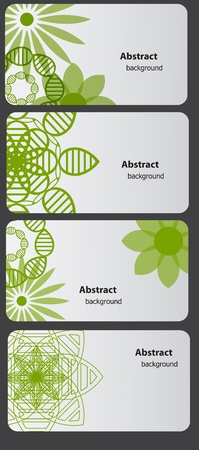Set of nature gift cards vector illustration Stock Vector - 12303584