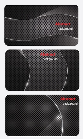eps10, brochure business card banner metal glass abstract background style Vector