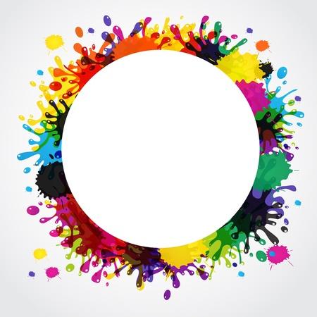splash paint: Vector background splash abstraite