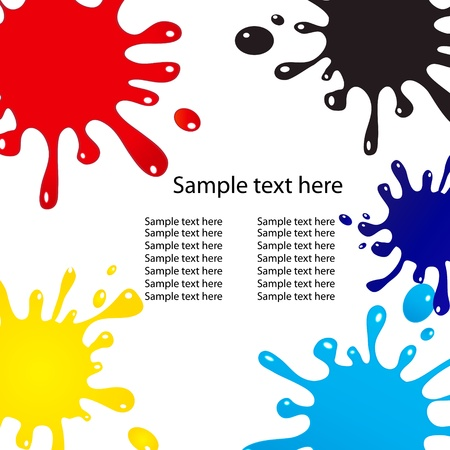 splats: Vector splash abstract background