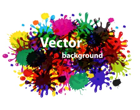Vector splash abstract background Stock Vector - 12303638