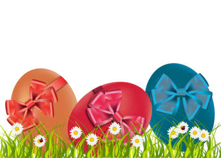 easter eggs, happy easter. Vector