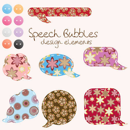 set of different speech bubbles,  design elements Stock Vector - 12303625