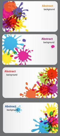 business card with Colored blots vector illustration Vector