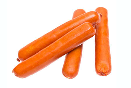 Sausages isolated on the white background photo