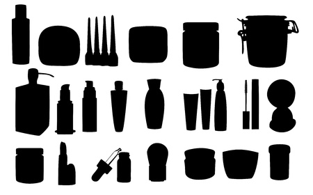 Wide range of cosmetic jars Vector