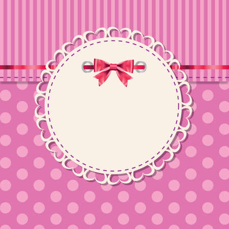 vintage frame with bow vector illustration Stock Vector - 12487807