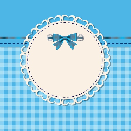 round frame: vintage frame with bow vector illustration
