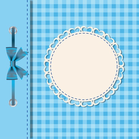 Vector greeting card or cover with bow  Space for your text or picture  Illustration