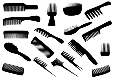 Vector hairdresser tools isolated on white Vector