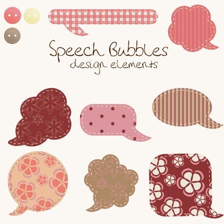 set of different speech bubbles, design elements Vector
