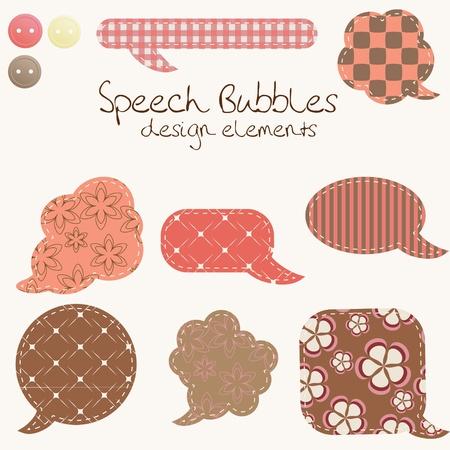 decorate element: set of different speech bubbles, design elements