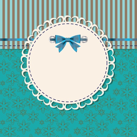 vintage frame vector: vintage frame with bow vector illustration
