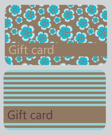 abstract beautiful set of gift card design, vector illustration  Vector
