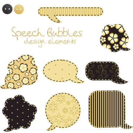 set of different speech bubbles, design elements Vector
