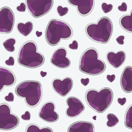 valentine seamless hearts pattern background Illustration