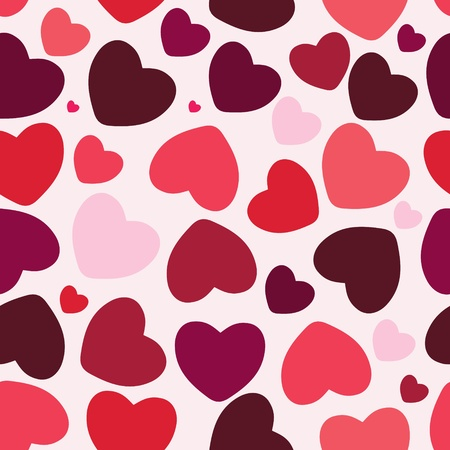 valentine seamless hearts pattern background Stock Vector - 12487901