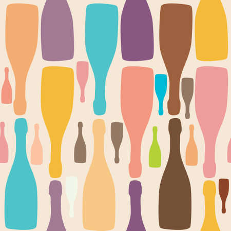 Vector background with bottles  Good for restaurant or bar menu design Stock Vector - 12487910