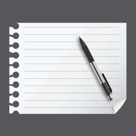 blanc: abstract list blanc with pen vector illustration Illustration