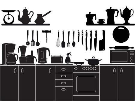 ilustración vectorial de utensilios de cocina para cocinar Ilustración de vector