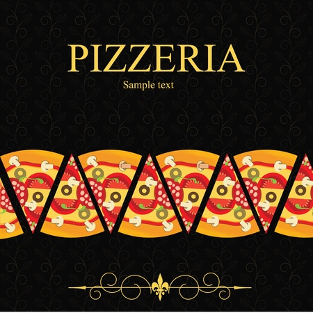 Pizza Menu Template, vector illustration Stock Vector - 12709952