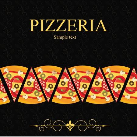 Pizza Menu Template, vector illustration Stock Vector - 12709952