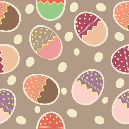 pasqua: Vector Easter Seamless pattern with eggs background Illustration