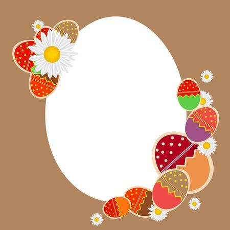 vector eggs: Easter eggs card with colourful eggs  vector illustration