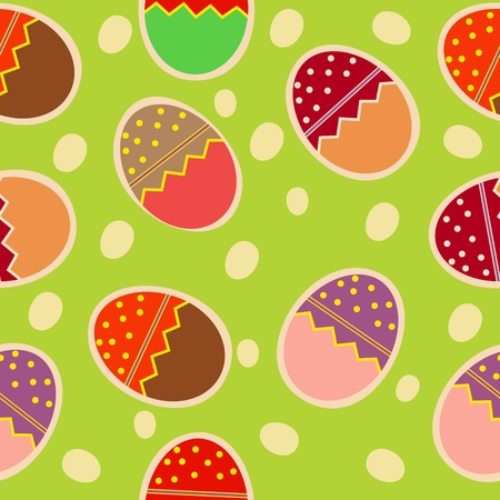 Vector Easter Seamless pattern with eggs background Vector