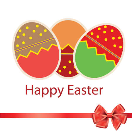 Easter eggs card with colourful eggs  vector illustration Stock Vector - 12709927