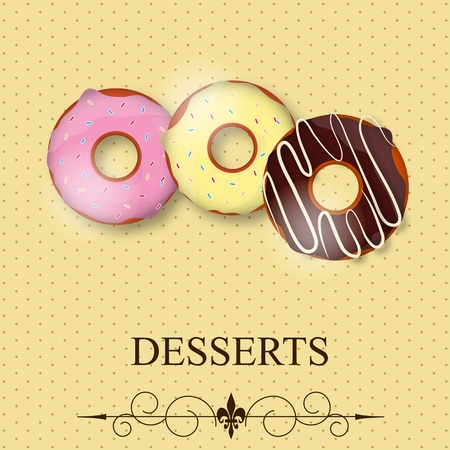 Vector dessert menu Illustration