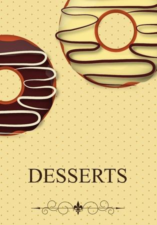 beignet: Carte des desserts Vecteur