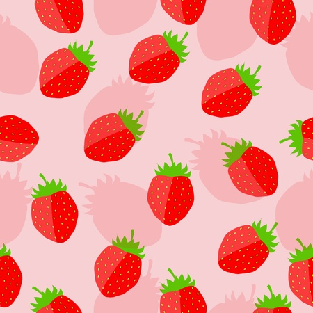 strawberry background vector illustration Stock Vector - 12710003