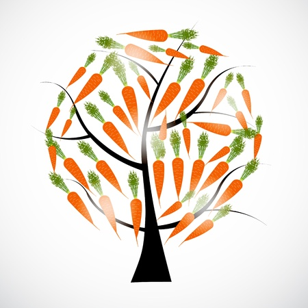 carrot tree: carrot tree vector illustration isolated on white background
