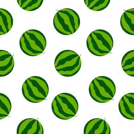 Seamless watermelon background Vector
