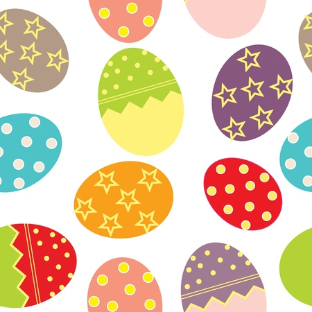 pasqua: Easter Seamless pattern with eggs background